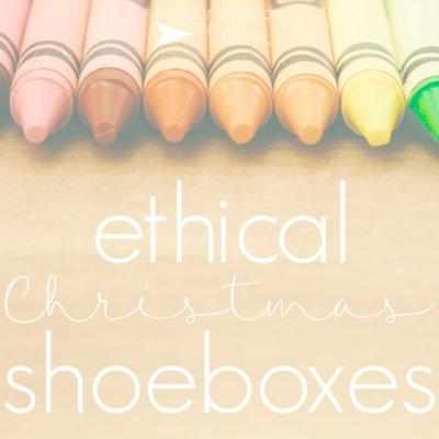 ethical Christmas shoeboxes