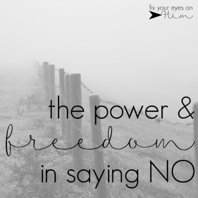 the power & freedom in saying no