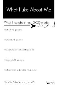 what i like about me | fixyoureyesonhim.com #selfcare #body #mind #spirit #mission