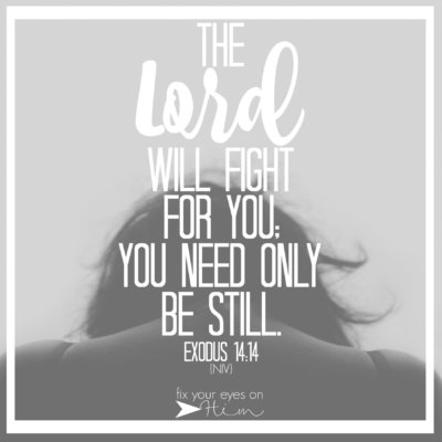 deep breath: the Lord will fight for you…
