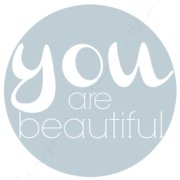 you are beautiful 8 x 10 printable blue