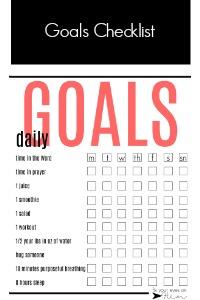 daily health goals checklist | fixyoureyesonhim.com #selfcare #body #mind #spirit #mission