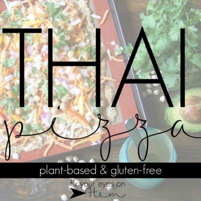nourish: Thai pizza