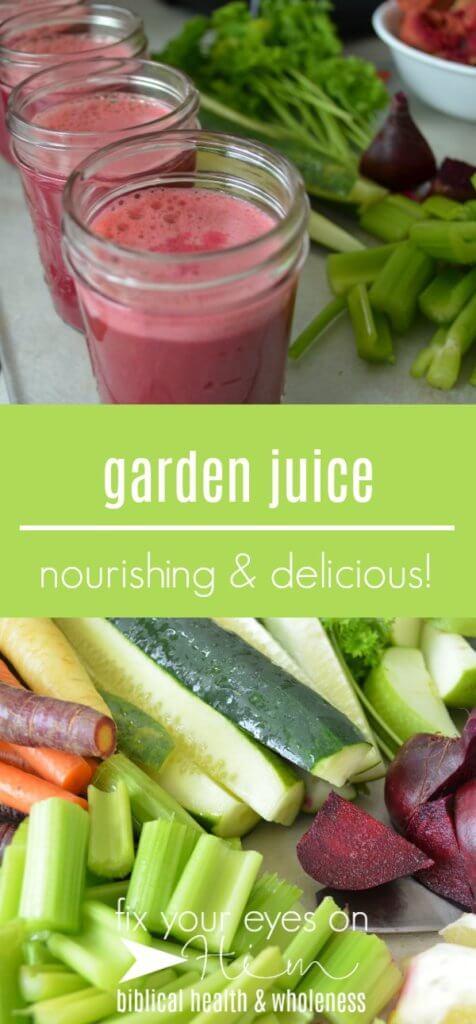 garden juice | fixyoureyesonhim.com #juice #recipe #recipes #healthy #delicious #health #juicing #nourishing #nutrition #diet #vegan #vegetarian #plant #based #whole #foods #clean #eating