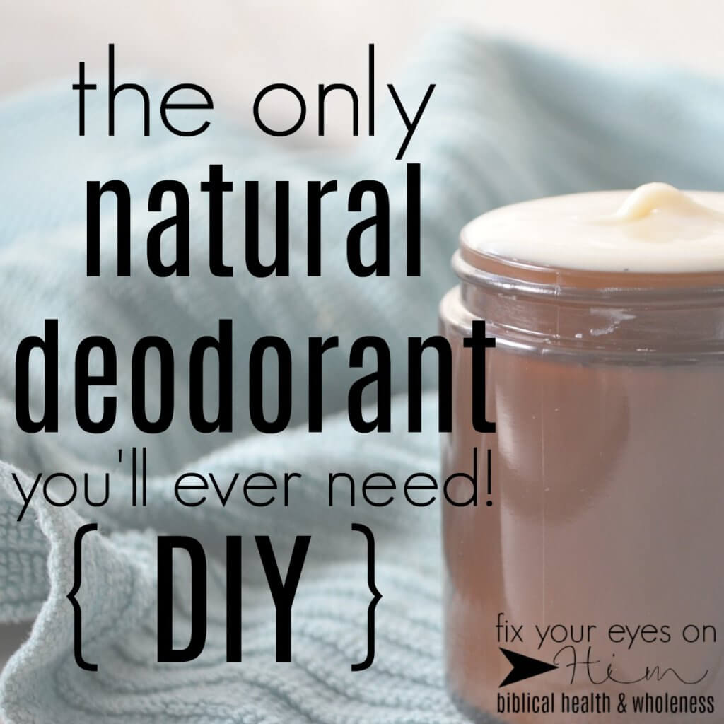 the only natural deodorant you'll ever need {DIY}