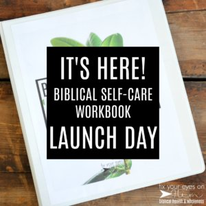 It's here! Biblical Self-Care Workbook launch day!